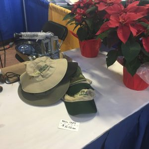Embroidered hats for sale at PA Farm Show 2017