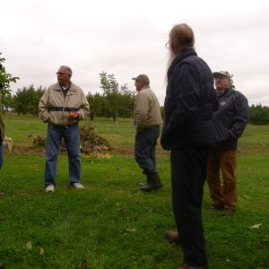 Orchard tour at Jere Groff's
