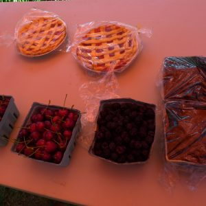 2017 Summer Picnic - fruits and pies up for auction